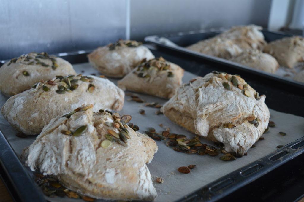Pumpa-pimpade bröd.